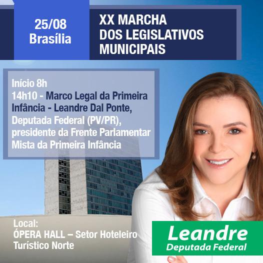 Leandre participa da XX Marcha dos Legislativos Municipais em Brasília
